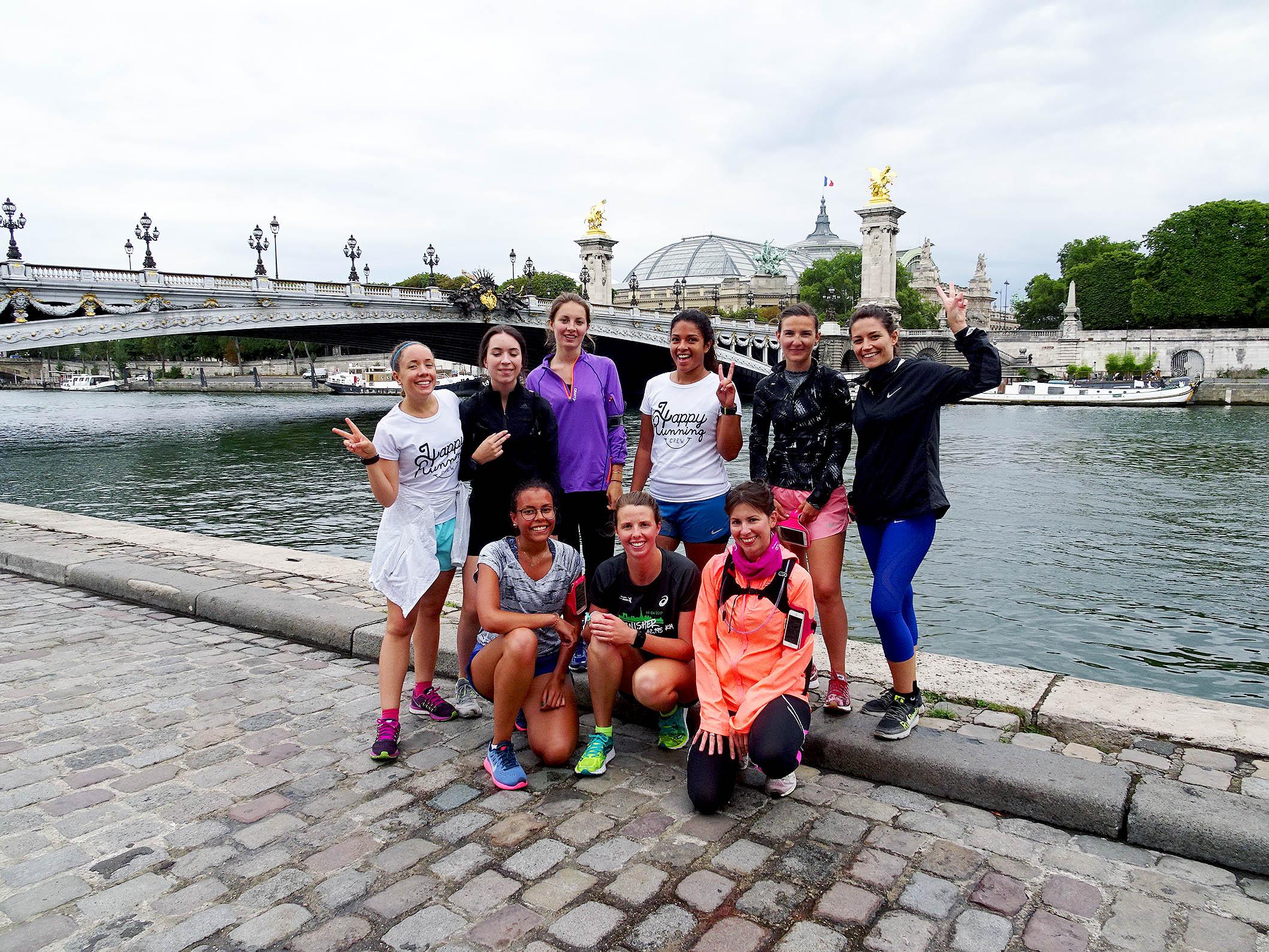 courir et visiter paris
