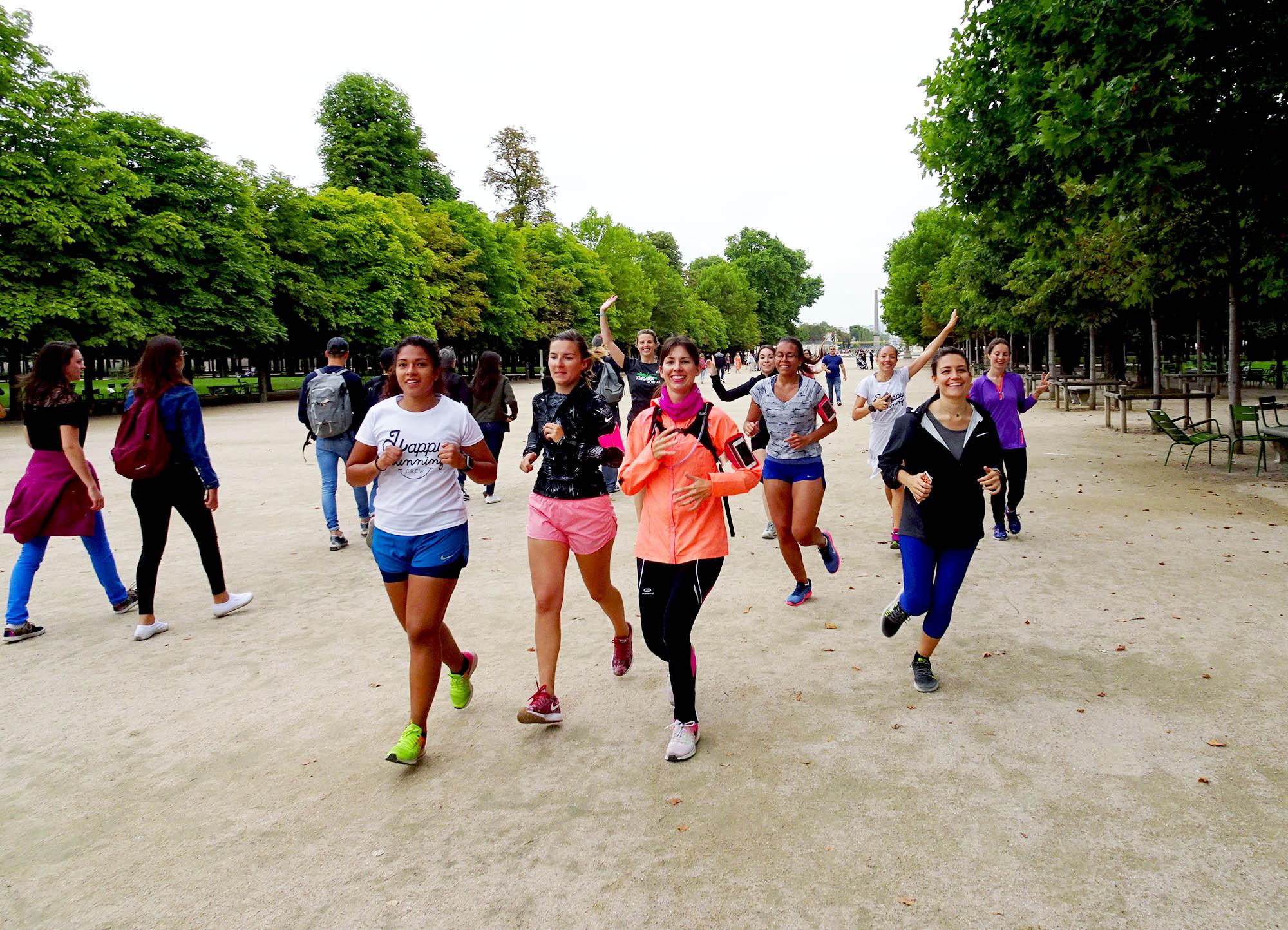 courir au jardin des tuileries