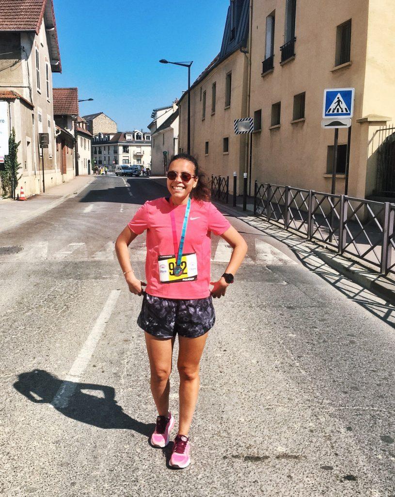 le jour J prête pour mon premier marathon